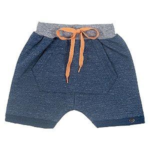 Shorts Saruel Bebê Masculino Azul Marinho Duzizo