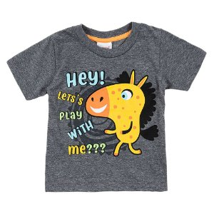 Camiseta Bebê Masculina Cavalinho Mescla Duzizo