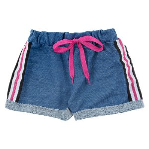 Shorts Infantil Feminino Jeans Azul Duzizo