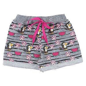 Shorts Infantil Feminino Melancia Mescla Duzizo