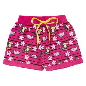 Shorts Infantil Feminino Melancia Rosa Duzizo