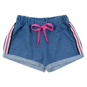 Shorts Infantil Feminino Azul Duzizo