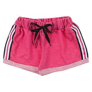 Shorts Infantil Feminino Rosa Duzizo