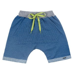 Bermuda Saruel Infantil Masculina Azul Duzizo