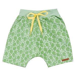 Bermuda Infantil Masculino Folhas Verde Duzizo