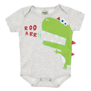 Body Bebê Masculino Dino Mescla Didiene