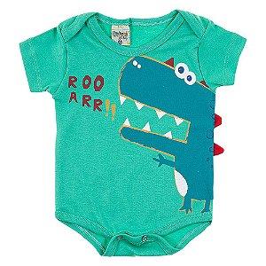 Body Bebê Masculino Dino Verde Didiene