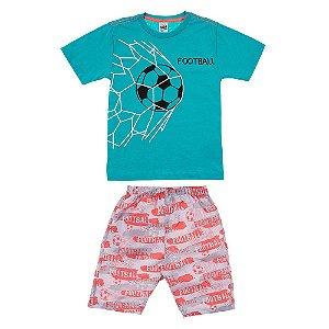 Conjunto Infantil Masculino Futebol Verde Didiene
