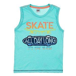Regata Infantil Masculina Skate Verde Didiene