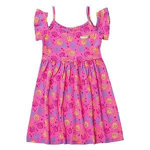 Vestido Ciganinha Infantil Feminino Conchas Rosa For Girl