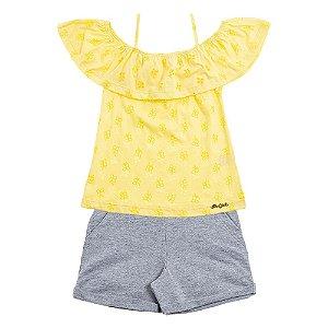 Conjunto Infantil Feminino Laise Amarelo For Girl