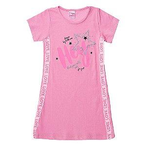Vestido Infantil Feminino Hey Rosa For Girl