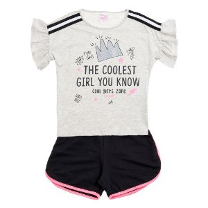 Conjunto Infantil Feminino Fun Girls Mescla For Girl