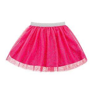 Saia Infantil Feminina Glitter Rosa For Girl