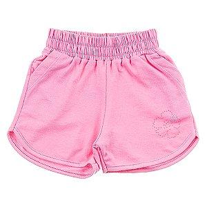 Short Infantil Feminino Rosa For Girl