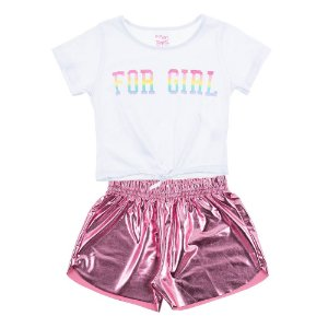 Conjunto Infantil Feminino For Girl Branco For Girl