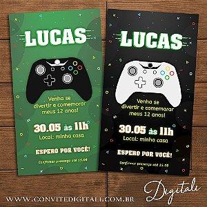 Convite Video Game - Arte Digital