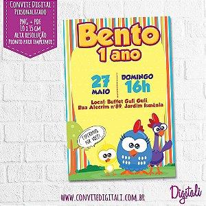 Convite Galinha Pintadinha Mini - Arte Digital