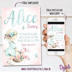 Convite Jardim Menininha - Arte Digital