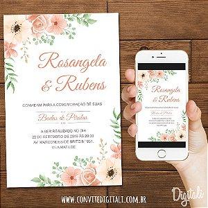 Convite Bodas de Pérola - Arte Digital
