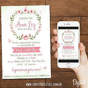 Convite Jardim Encantado - Arte Digital