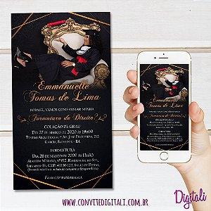 Convite Formatura com Foto - Arte Digital