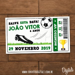 Save The Date Ingresso Futebol - Arte Digital
