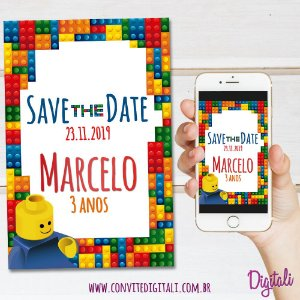 Save the Date Lego - Arte Digital