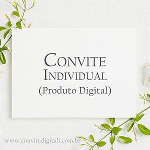 Convite Individual - Arte Digital