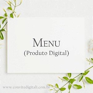 Menu ou Cardápio - Arte Digital