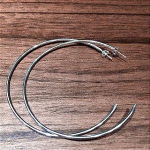 Argola Prata semi-folheada (6 cm)