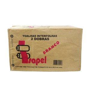 Interfolha Branco 20x21 Isapel 2 dobras