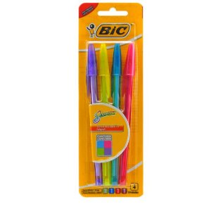 Caneta Bic Shimmers C/4 Cores