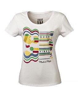 Camiseta Feminina Made in Mato - Branca
