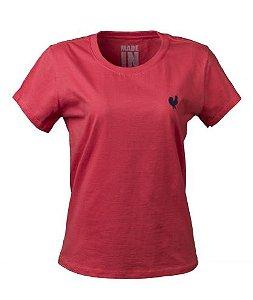 Camiseta Básica Feminina - Goiaba
