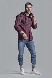 Camisa Xadrez com Capuz - Agathos