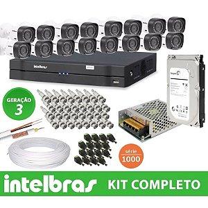 Kit Intelbras completo Alta definição - 16 Câmeras - 1 Mega