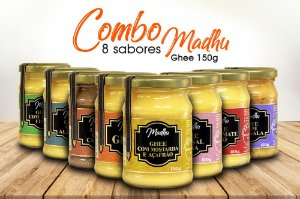 Kit Combo 8 sabores Madhu Ghee 150gr