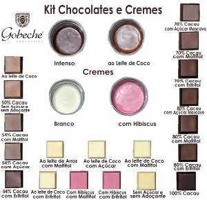 Kit Degustação Chocolates e Cremes Gobeche - 19 tipos de chocolates + 4 cremes