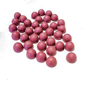 Gotas Chocolate Branco com Hibiscus - Sem Leite/Sem Glúten/ Com Eritritol- 1kg