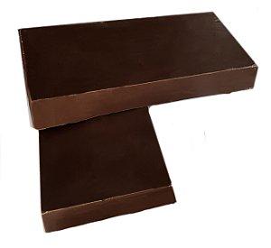 Barra Chocolate 80% Cacau Gobeche -Com Açúcar Mascavo/ Sem leite/ Sem glúten/Vegano - 1,01kg