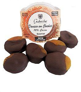 Damasco com Chocolate 70% Cacau Vegano/Sem Leite Gobeche - 60g