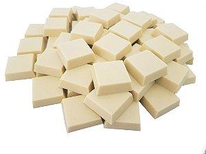Tabletes Chocolate Gobeche Branco Ao leite de Arroz -Vegano/Sem Glúten/Zero Açúcar - 1kg