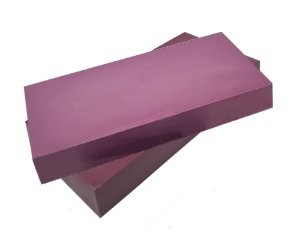 Barra Chocolate Branco Zero Açúcar com Hibiscus - Sem Leite/Sem Glúten - 1kg
