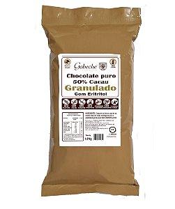 Chocolate Gobeche Puro 50% Cacau Granulado Adoçado com Eritritol- 1kg