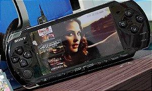Playstation PSP modelo Slim com 120 jogos 16 gigas classe 10 com emuladores (semi-novo) revisado