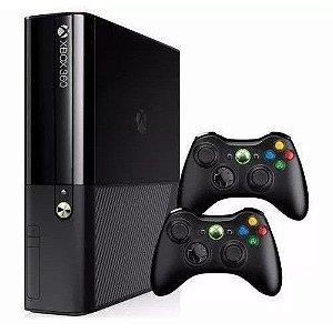 Xbox 360 Super Slim 4g modelo 2015 e 2016 com 2 controle e 2 jogos de brindes