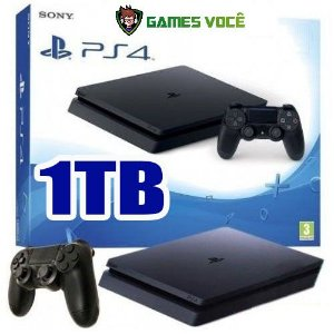 Playstation 4 SLIM - 1TB - Novo Modelo SLIM - HD 1TB