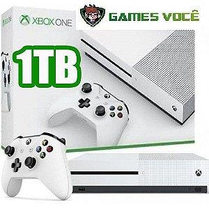 Xbox One S - 1TB - NOVO - Cor Branca 1 ano de garantia