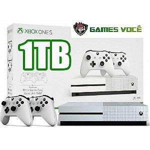 Xbox One S - 1TB - 2 Controles - Cor Branca